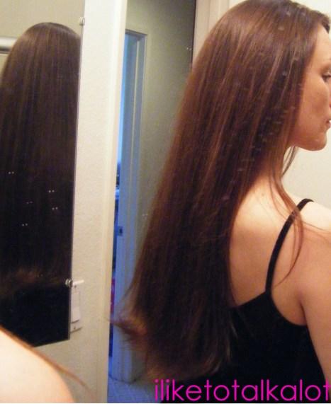 final hair blow dried shiny pome serum