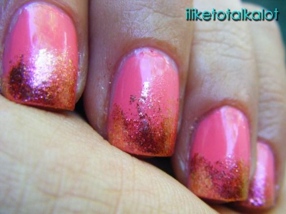coral manicure iliketotalkaot