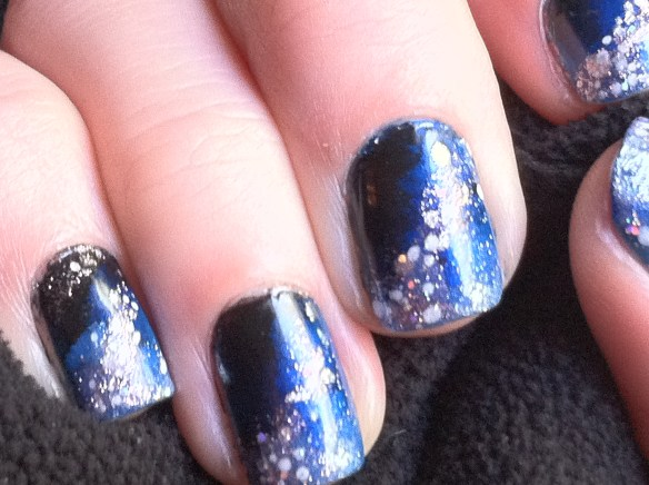 Starry Night Manicure Starry Night Nails