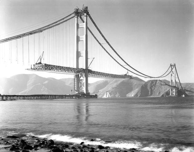 Golden Gate Bridge Construction