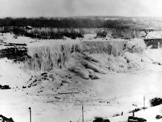 Niagara Falls freeze over