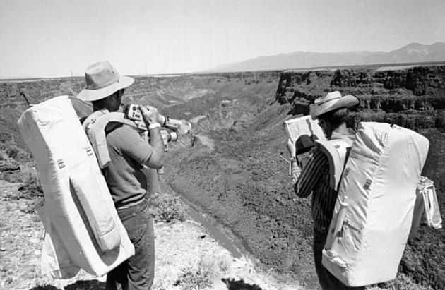 Young and Duke training for Apollo 16