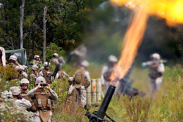 Live Fire mortars