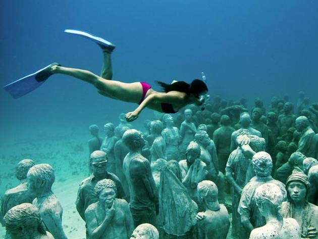 An Underwater Museum of Statues  Cancun Mexico  I Like To Waste My Time