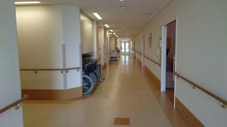 hospital hallway nakatsu citizens hospital japan