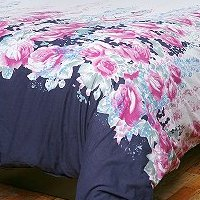 garden rose duvet cover