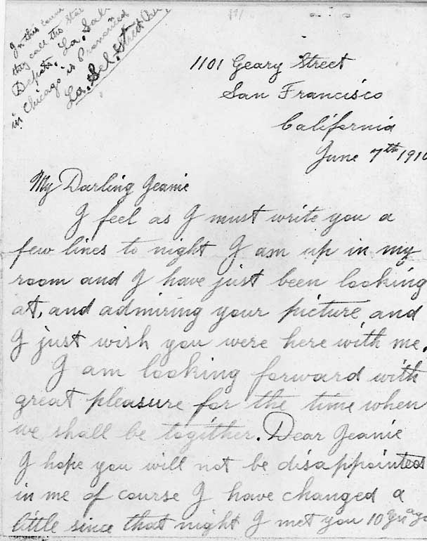 A century-old letter from my grandfather to his future
