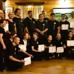 Students display their new certificates of rank at the I Liq Chuan retreat in Poland