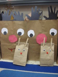 Small Paper Bag Reindeer Goody Bags that I made