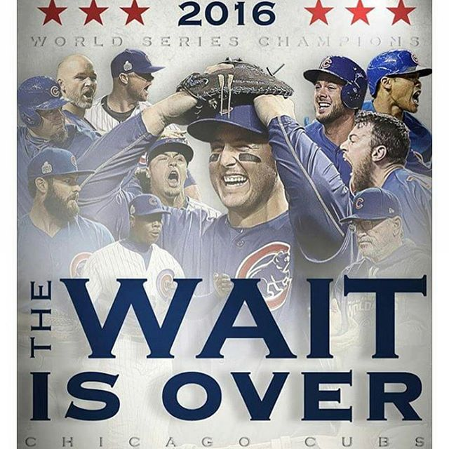 The wait is over. #cubs  #2016 #mlb #baseball #world #series #champions #curse #1908