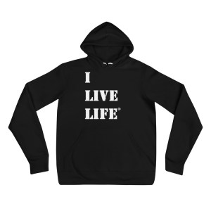 Classic I Live Life Bella + Canvas Fleece Pullover Hoodie