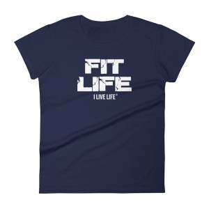 The I Live Life Fitness Meme is a ladies ringspun fashion fit t-shirt on ilivelifeill.com