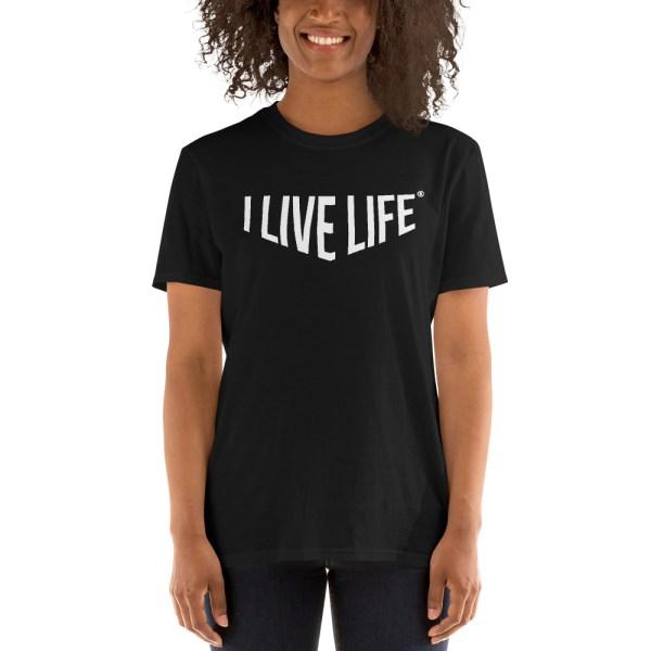 I Live Life Barbell Gym T shirt