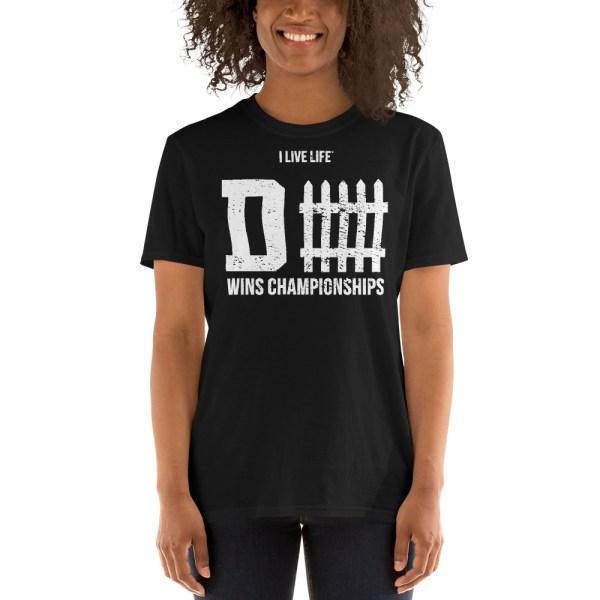 Defense Wins Championships Vintage Tshirt mockup of guy on ilivelifeill.com