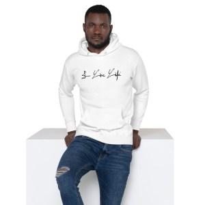 I Live Life Black Signature Premium Hoodie on ilivelifeill.com