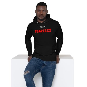 The I Live Life Premium Fearless Hoodie on ilivelifeill.com