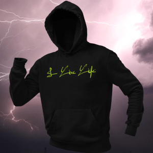 The I Live Life Electric Signature Premium Hoodie on ilivelifeill.com