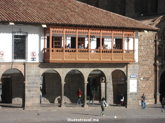 Architecture near the main plaza or square in Cusco (Cuzco), Peru