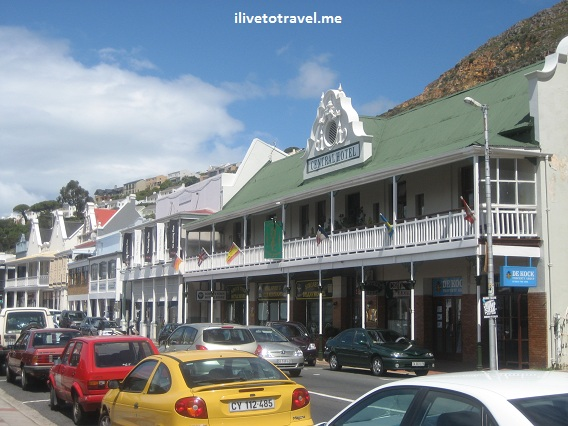 Simon's Town on the way of the Cape of Good Hope in South Africa