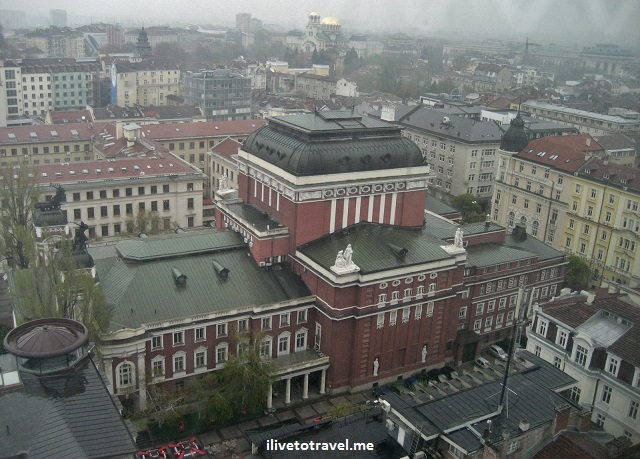 Bulgaria, Sofia, national theatre, alexander nevsky cathedral, orthodox church, view from above, travel, photo, Canon EOS Rebel