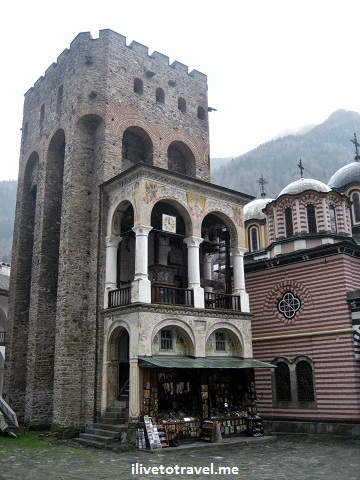 Old tower at the Rila Monastery in Bulgaria