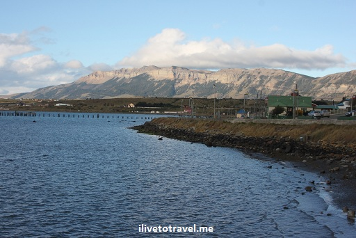 View north from Puerto Natales, Chile