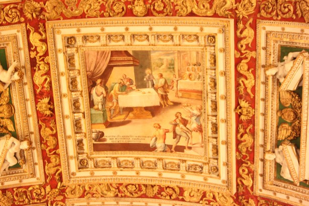 Vatican Museum ceiling, Rome, Italy