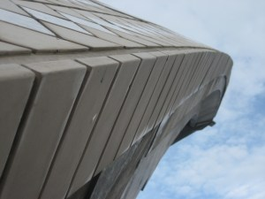 Close-up of the Sydney Opera House's architecture