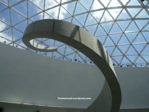 Internal architecture elements at the Dali Museum - the spiral staircase