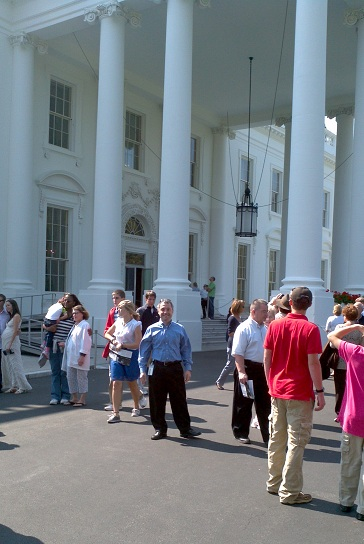 My picture in front of the White House's north portico