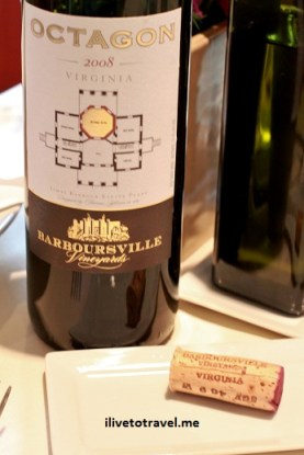 Octagon from Barboursville Vineyards - a great Virginia wine