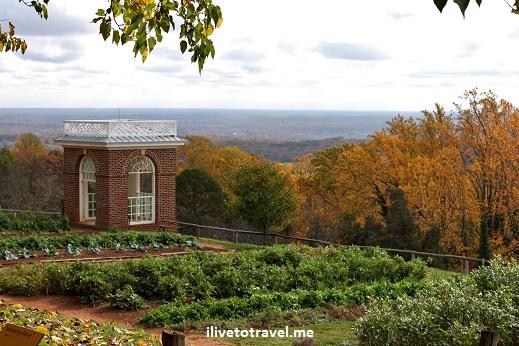 Monticello gardens and crop plots in Virginia