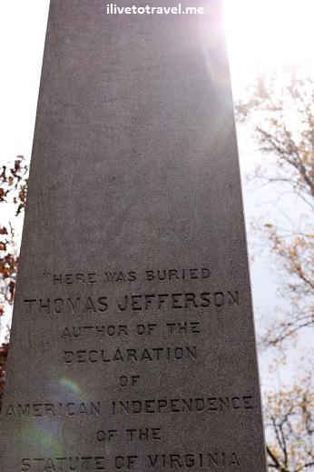 Thomas Jefferson's tomb in Monticello, Virginia