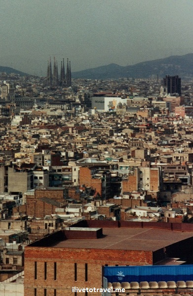 Montjuic, La Sagrada Familia, Barcelona, vista, view, photo, travel, Canon EOS Rebel