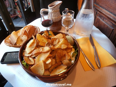 Potato and egg salad in Montmartre