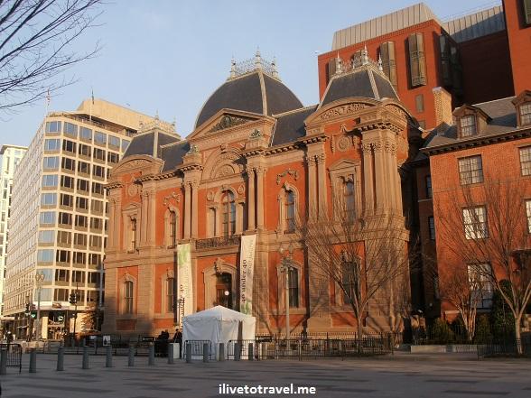 Tne Smithsonian's Renwick Gallery in Washington, D.C. built by William Corcoran