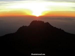 Sunrise from Kilimanjaro as we neared Stella Point