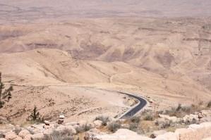 Desert road Jordan