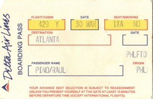 Boarding Pass Stories:  Delta Inflight Drink Options Circa 1985