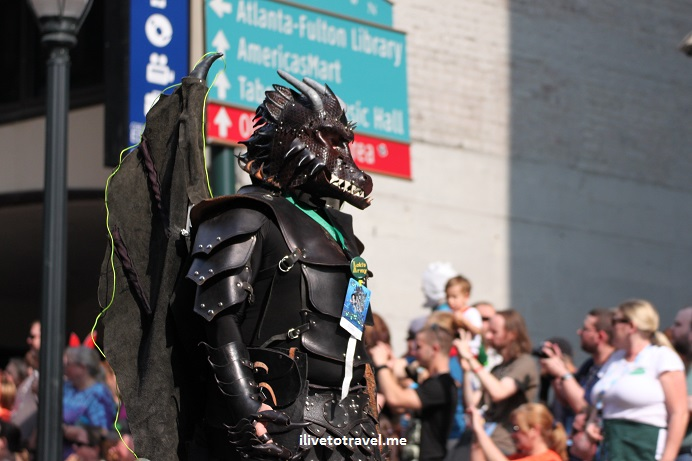 DragonCon, Dragon, Atlanta, parade, conference, convention, science fiction, fantasy, Canon EOS Rebel