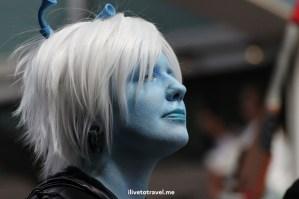 DragonCon, Dragon, Atlanta, parade, conference, convention, science fiction, fantasy, Canon EOS Rebel, cosplayer, Klingon, blue