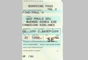 boarding pass, sao paulo, buenoso aires, travel, miami, airport, United Airline, mishap, first class