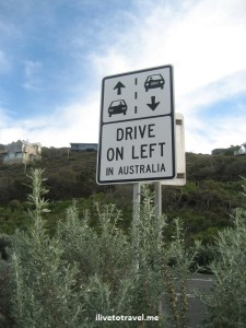 road sign, great ocean road, australia, driving, photo