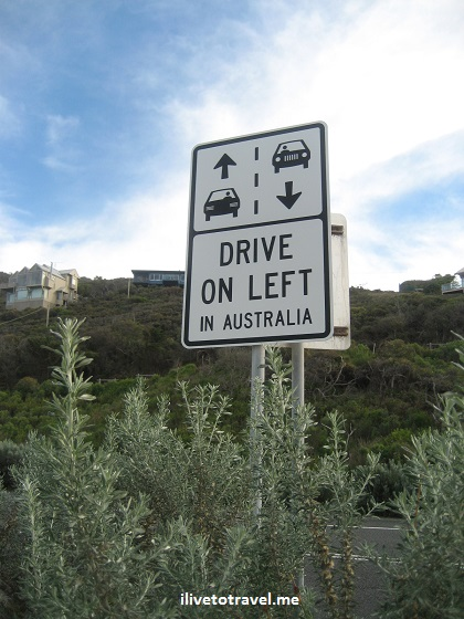 road sign, great ocean road, australia, driving, photo