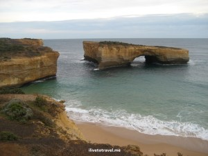 Along the Great Ocean Road in Australia