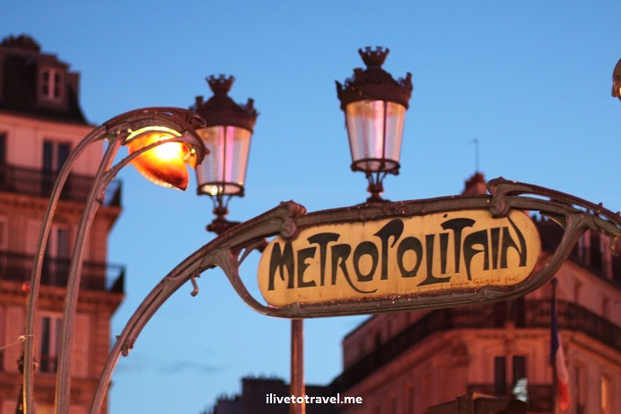 Paris, metro, Pigalle, photo, night, dusk, sign, travel, Canon EOS Rebel