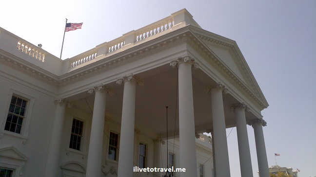 White House, Washington D.C., DC, center of power, President's residence, US flag, photo