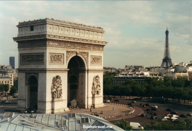Paris, Arc de Triomphe, Paris, Eiffel Tower, Canon EOS Rebel, photo, travel, view