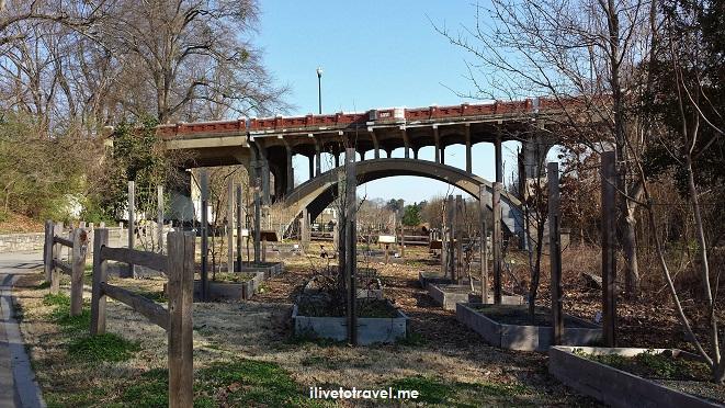 Piedmont Park, train, railroad line, garden, Atlanta, Midtown, photo