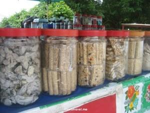 chadon beni, pickled fruits, Trinidad, Maracas Bay, roadside food, food, tasty, treats,, Trini